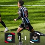 利物浦主场1比1战平纽卡斯尔,萨拉赫开场3分钟进球,维尔洛克第95分钟扳平。利物浦连平。